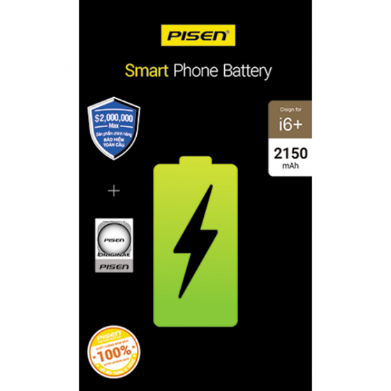 Pin điện thoại Pisen dung lượng cao dành cho iphone 6+