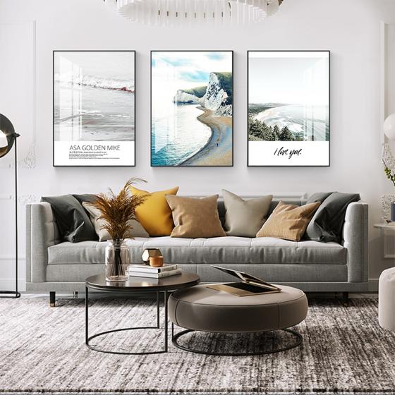 Tranh treo tường tráng gương pha lê cao cấp phong cách the nordic (40x60x3cm)