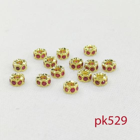 Charm 6li đính đá tím cực xinh phối vòng chuổi trang sức phụ kiện cá tính trẻ trung pk529