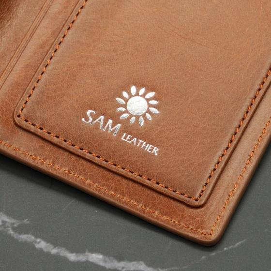 Ví nam da bò Sam Leather SAMDKL008 - ví da nam hàng chính hãng bảo hành 1 năm