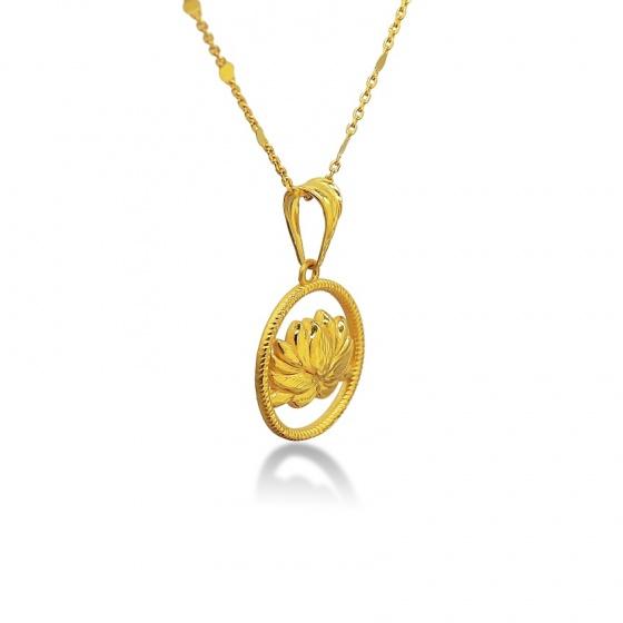 Mặt dây hoa sen vàng 24K DOJI FP60697