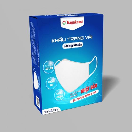 Combo 20 chiếc Khẩu trang vải kháng khuẩn Nagakawa bảo vệ gia đình