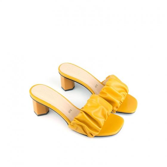 Guốc gót vuông quai nhúng SUNDAY GG20 - Màu vàng