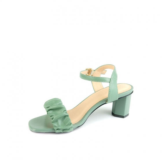 Giày sandal gót vuông quai nhúng SUNDAY DV69 - Màu xanh