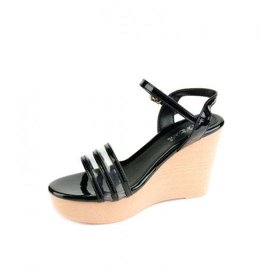 Giày sandal đế xuồng SUNDAY DX27 - Màu đen