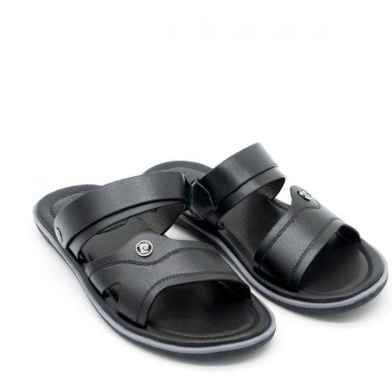 Sandal nam cao cấp Pierre Cardin PCMFWLE128BLK màu đen