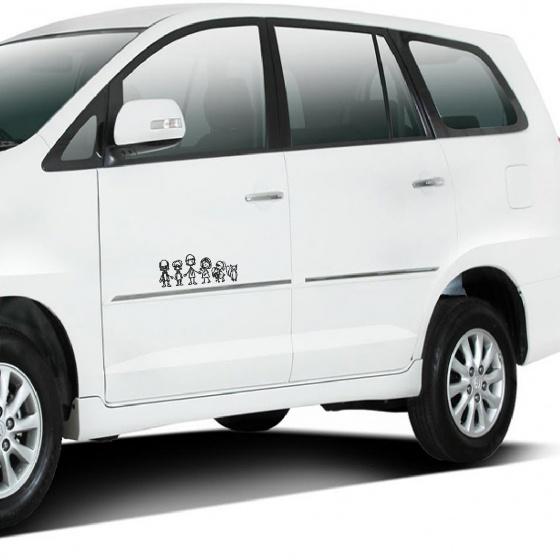 Miếng dán xe ô tô gia đình 3 thế hệ FarD-21