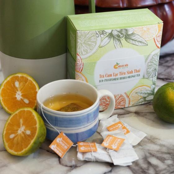 Trà cam sả sinh thái Kỳ Yến (hộp vuông 20 túi lọc x 2g)