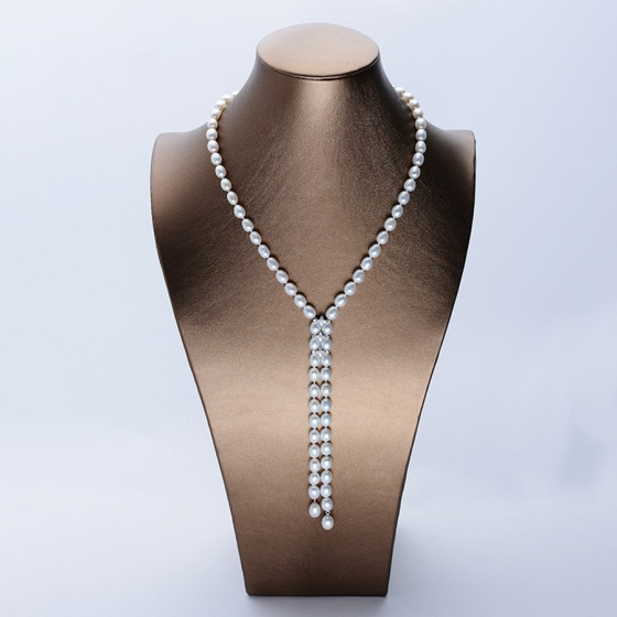 Vòng cổ Ngọc trai Thiên nhiên Cao cấp - Kiểu dáng dài - PythonPearl (8-9ly) - CTJ3608 + Kèm hộp sang trọng