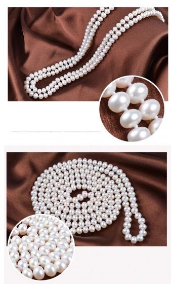 Vòng cổ Ngọc trai Thiên nhiên Cao cấp - Kiểu dáng dài - DiversityPearl (8-9ly) - CTJ7708 + Hộp đựng sang trọng