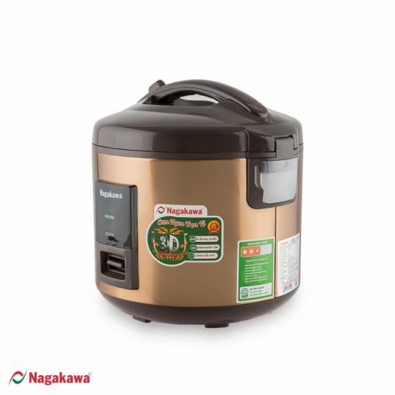 Nồi cơm điện nắp gài Nagakawa NAG0122 - 1.8 lít - hàng chính hãng - bảo hành 12 tháng