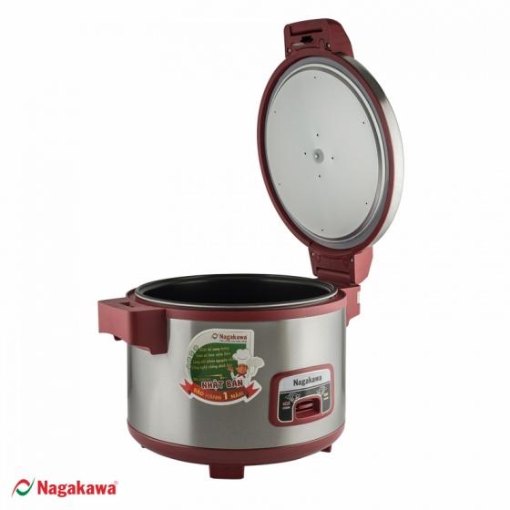 Nồi cơm điện Nagakawa nắp gài NAG0108 - 4.6 lít - hàng chính hãng - bảo hành 12 tháng