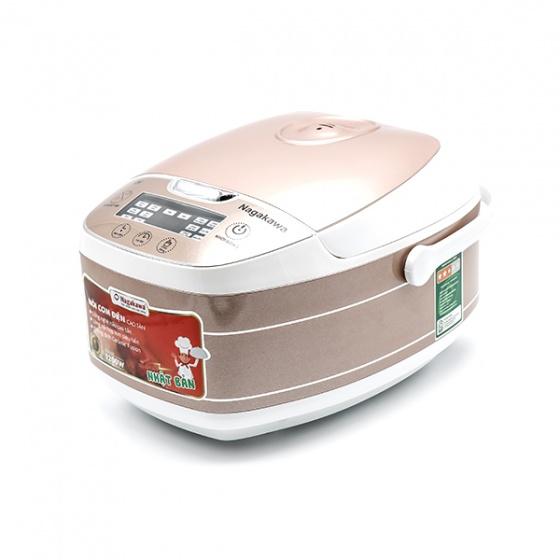 Nồi cơm điện cao tần Nagakawa NAG0102 - màu trắng - hàng chính hãng - bảo hành 12 tháng