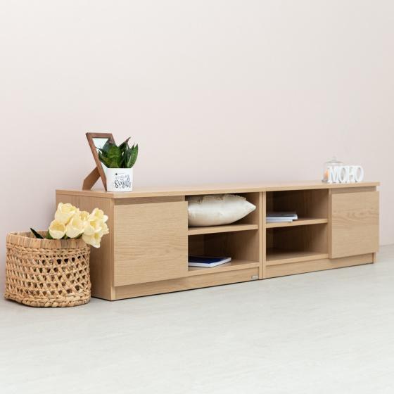 Set 2 tủ kệ tivi gỗ MOHO VIENNA 204