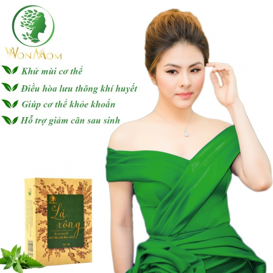 Lá xông thảo dược toàn thân hỗ trợ giảm cân sau sinh Wonmom