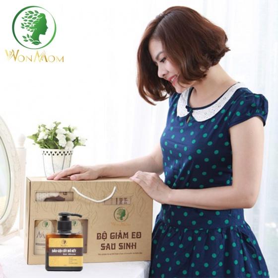 Dầu gội cốt bồ kết trị sạch gàu, kích thích mọc tóc Wonmom 250ml