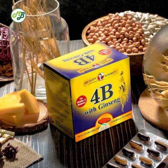 Viên uống bồi bổ cơ thể giúp ăn ngon miệng , nâng cao thể lực - 4B With Ginseng - Medi beauty