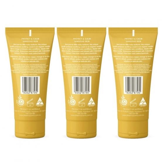 Bộ 3 tuýp kem dưỡng da chuyên sâu Organic intensive soothing cream Little Innoscents