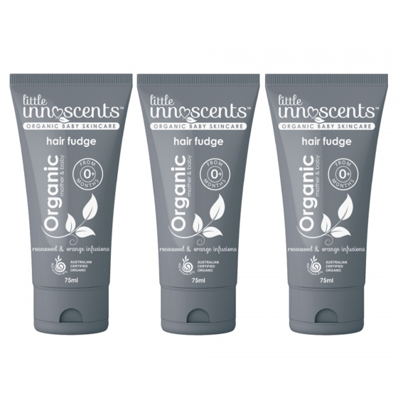 Bộ 3 tuýp gel tạo kiểu tóc Organic hair fudge Little Innoscents