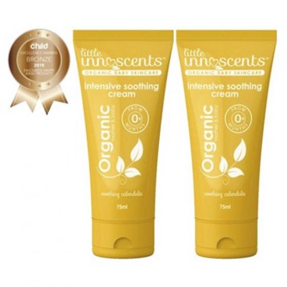 Bộ 2 tuýp kem dưỡng da chuyên sâu Organic intensive soothing cream Little Innoscents