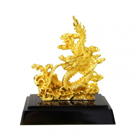 Tượng Rồng vờn mây mạ vàng - TRVM