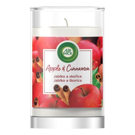 Ly nến thơm tinh dầu Air Wick Apple Cinnamon 310g XXL QT06525 - hương táo, quế