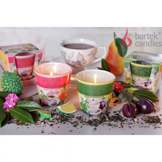 Ly nến thơm tinh dầu Bartek Five O'clock 115g QT029897 - hương trà cam (giao mẫu ngẫu nhiên)