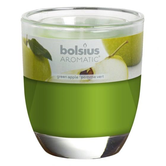 Ly nến thơm tinh dầu Bolsius Green Apple 105g QT024344 - hương táo xanh