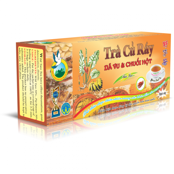 Trà củ ráy trị gout túi lọc- Nguyên Thái Trang – thảo dược thiên nhiên – tốt cho sức khỏe