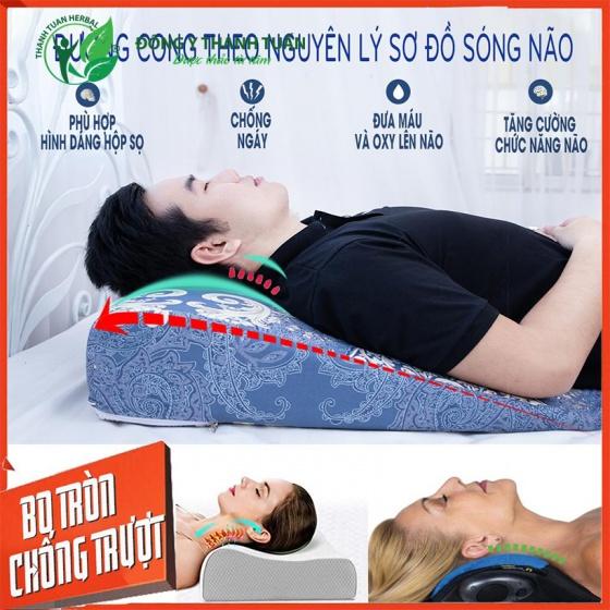 Gối chống trào ngược YOROKOBI bo tròn đỉnh giúp giảm ợ chua, trào ngược, xoang chống ngáy