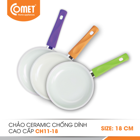 Chảo chống dính ceramic Comet CH11-18