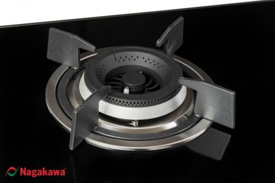 Bếp gas âm đôi mặt kính Nagakawa NAG1752 - tặng nồi áp suất cơ 7 lít - số lượng giới hạn