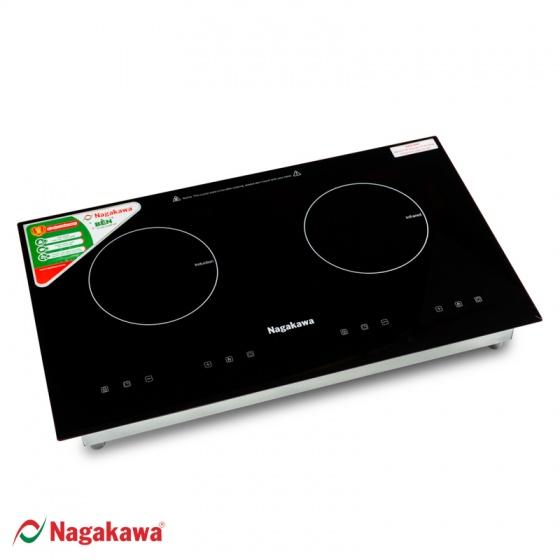Bếp Đôi Điện từ - Hồng Ngoại Nagakawa NAG1251 - tặng nồi áp suất cơ 7 lít - số lượng giới hạn