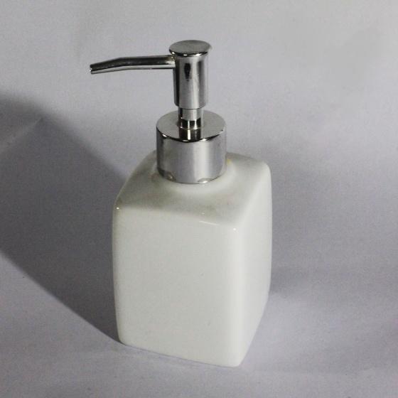 Bình đựng dầu gội sữa tắm đáy vuông to bằng sứ cao cấp - gốm sứ Hải Long