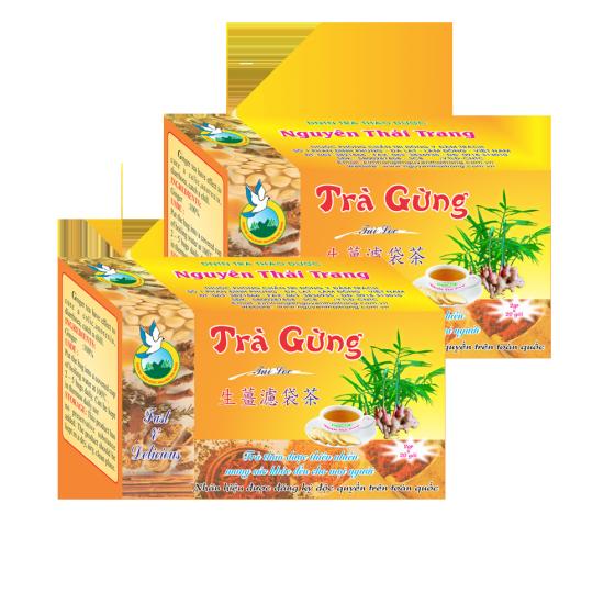 Trà gừng trị đau bụng, cảm mạo phong hàn -hộp 20 túi lọc x 2gr-Nguyên Thái Trang – thảo dược thiên nhiên