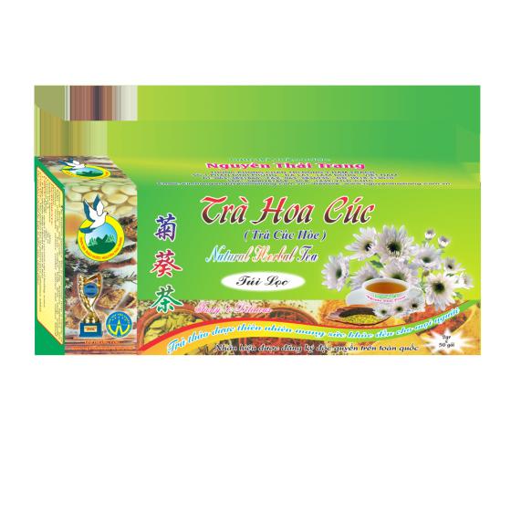 Trà hoa cúc điều hòa huyết áp thanh nhiệt -hộp 50 túi lọc x 2g- Nguyên Thái Trang – thảo dược thiên nhiên