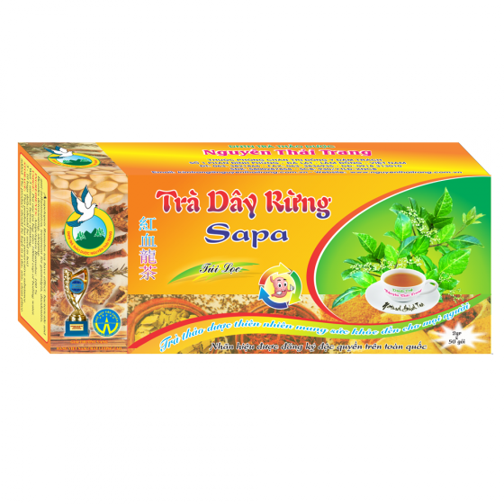 Trà dây rừng sapa hỗ trợ trị viêm loét dạ dày, hành tá tràng -hộp 50 túi lọc x 2g- Nguyên Thái Trang