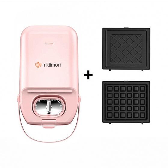 Máy nướng bánh mì mini Midimori MDMR-1366 (650W) + Gồm 2 khay nướng cơ bản