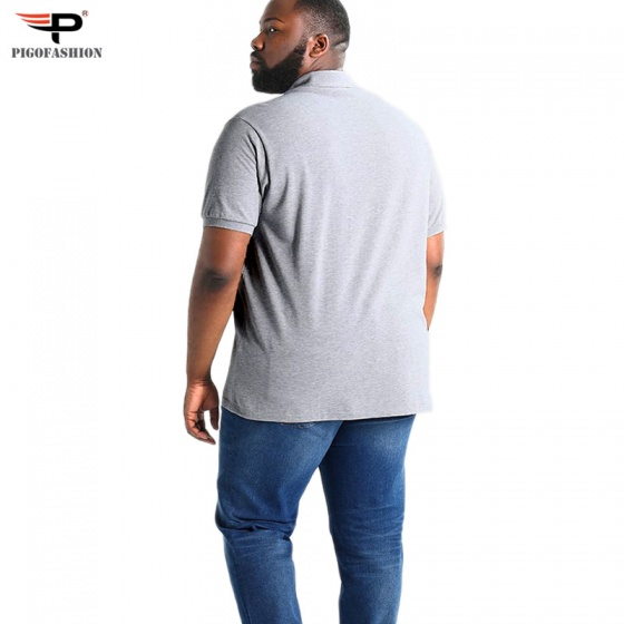 Áo thun nam cổ bẻ màu trơn big size cao cấp pigo fashion pb01 chọn màu