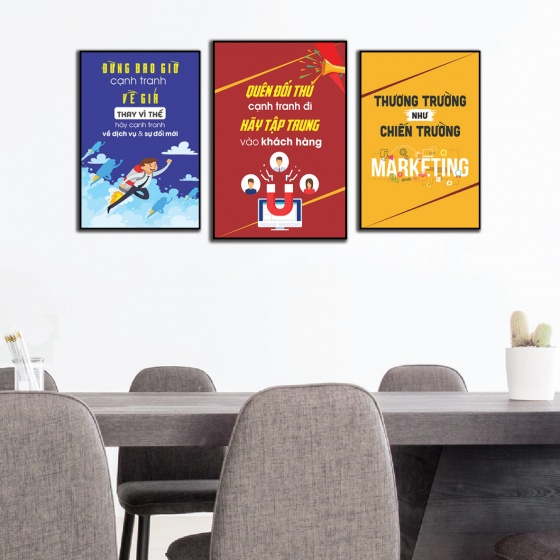 Tranh trang trí văn phòng ngành dịch vụ quảng cáo DL-38