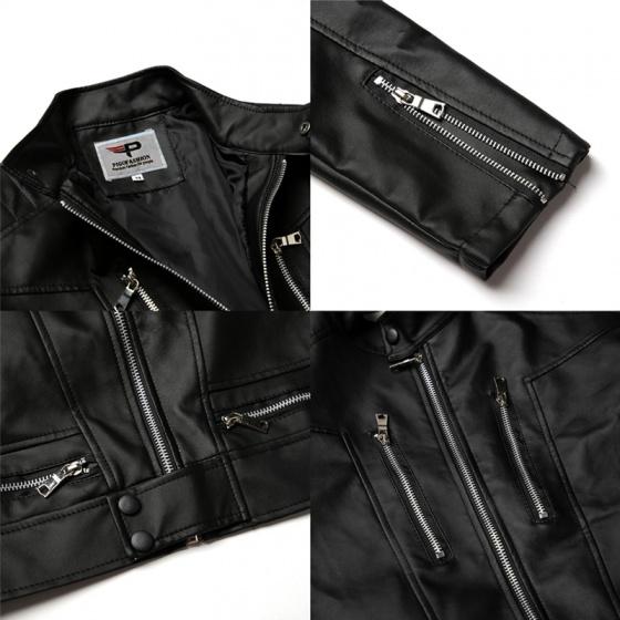 Áo khoác da nam lót lông thu đông cao cấp pigo fashion AD23