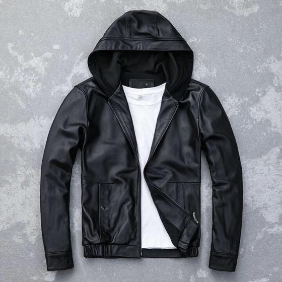 Áo khoác da nam lót nỉ thu đông cao cấp pigo fashion AD29