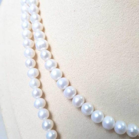 Vòng cổ Ngọc trai Thiên nhiên Cao cấp - Chuỗi đôi - SophiePearl (6-7ly) - CTJ0510 + Tặng kèm bông tai
