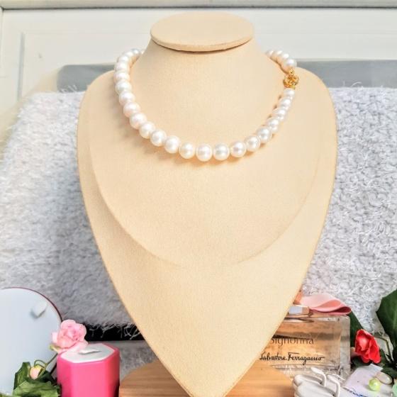 Vòng cổ Ngọc trai Cao cấp - Chuỗi Đơn - MoonPearl (12ly) - CTJ0604 + Tặng kèm bông tai nụ bạc