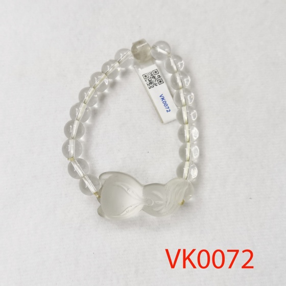 Vòng tay phối hồ ly đá lưu ly trắng VK0072
