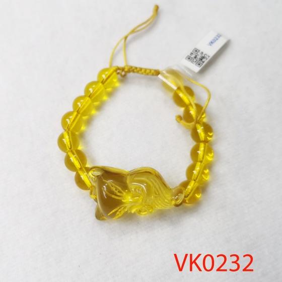 Vòng tay phối hồ ly đá lưu ly vàng VK0232