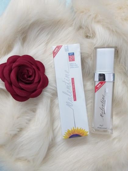 Kem chống nắng trắng da Valentine SPF30 PA +++ New