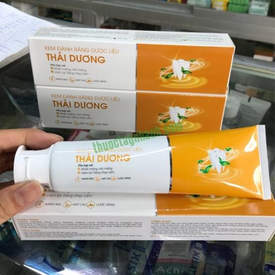 Kem đánh răng dược liệu Thái Dương tuýp 150g