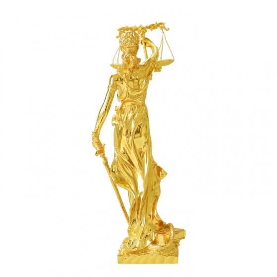 Tượng Nữ Thần Công Lý mạ vàng 24K