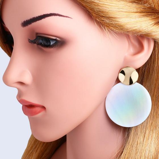 Bông tai nữ - Thiết kế cổ điển - VintagePearlShell - CTJ1310